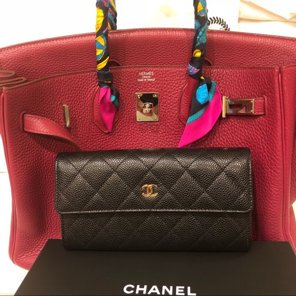 374b25e4da5d CHANEL Bags | Black Caviar Gusset Large Flap Wallet | Poshmark
